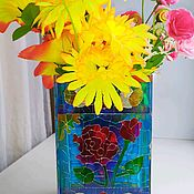 Для дома и интерьера handmade. Livemaster - original item Stained glass vase in the style of