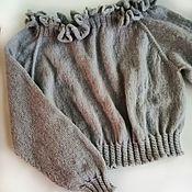 Одежда handmade. Livemaster - original item Romantic sweater. Sweater with open shoulders. Handmade.