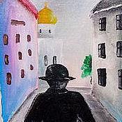 Картины и панно ручной работы. Ярмарка Мастеров - ручная работа Из города уходит дождь. Handmade.