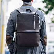 Сумки и аксессуары handmade. Livemaster - original item Backpack leather men