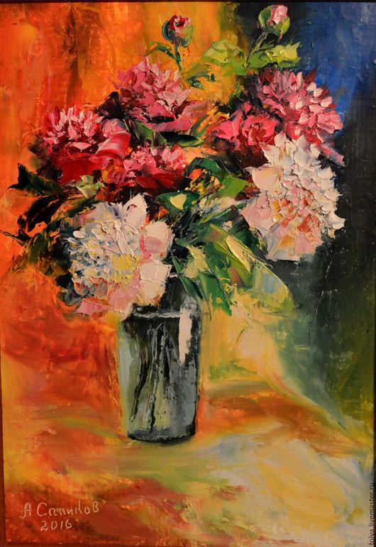 """Картины цветов ручной работы. Ярмарка Мастеров - ручная работа. Купить """"Мерцание лета"""". Handmade. Картина в подарок, цветы, масло"""