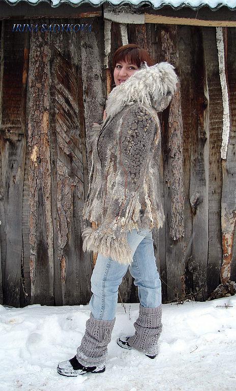 """Верхняя одежда ручной работы. Ярмарка Мастеров - ручная работа. Купить Тулупчик """"Сибирские морозы"""". Handmade. Тулуп, шерсть"""