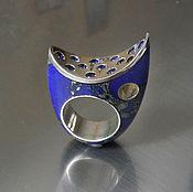 Украшения ручной работы. Ярмарка Мастеров - ручная работа Кольцо из варисцита, Синее. Handmade.
