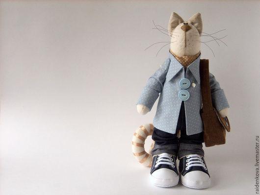 Игрушки животные, ручной работы. Ярмарка Мастеров - ручная работа. Купить Котик с сердечком. Handmade. Комбинированный, куклы и игрушки, синтепух