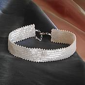 Украшения handmade. Livemaster - original item Chalker cream Japanese seed beads. Handmade.