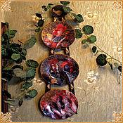 """Для дома и интерьера handmade. Livemaster - original item Panel """"Glamorous roost"""". Handmade."""