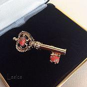 Винтаж handmade. Livemaster - original item Brooch Gerrys gold key USA 70-80-ies. Handmade.