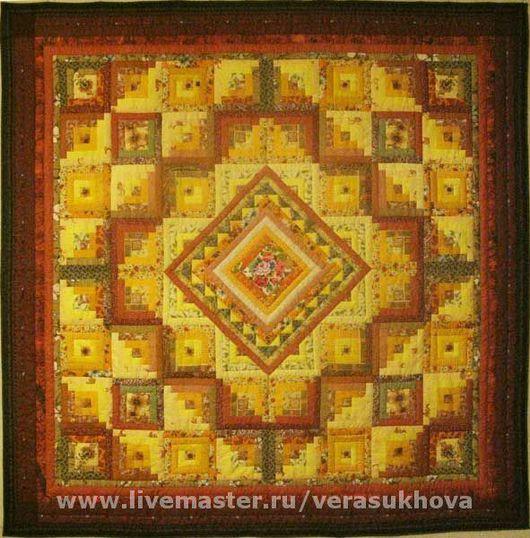 Home Textiles & Carpets handmade. Livemaster - handmade. Buy 'Chocolate dessert' blanket 220х220см.Quilting and patchwork, patchwork