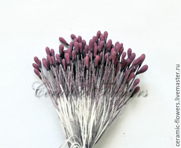 Florist Supplies handmade. Livemaster - handmade. Buy Stamens 'Burgundy wine', the average.Polymer clay, clay flowers, burgundy