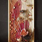 Картины и панно ручной работы. Ярмарка Мастеров - ручная работа Панно  флористическое  Розовая дымка. Handmade.
