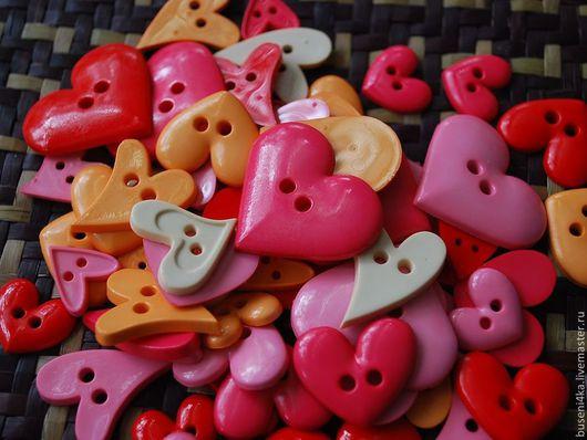 Шитье ручной работы. Ярмарка Мастеров - ручная работа. Купить Набор пуговиц Фруктовые сердечки (ассорти из 30шт). Handmade. Пуговицы