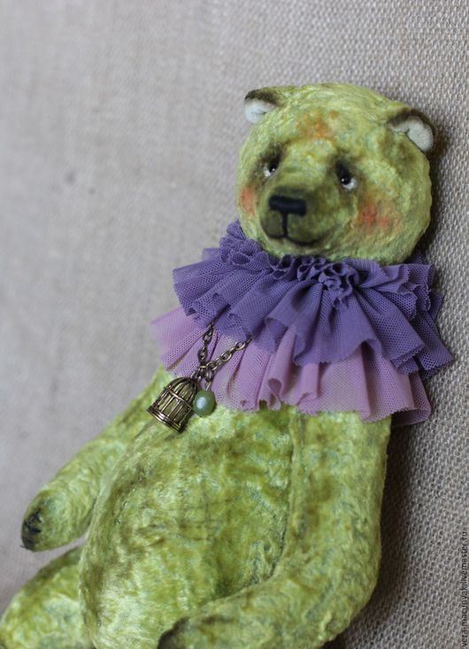 Мишки Тедди ручной работы. Ярмарка Мастеров - ручная работа. Купить Грин (31см). Handmade. Салатовый, зеленый мишка, тедди