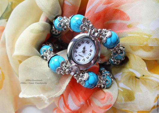 Часы женские Небесные Ласточки  эти часы в наличии, ГОТОВАЯ РАБОТА ollika Ольга Дмитриева, ollika handmade