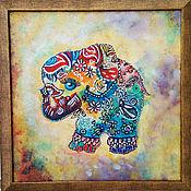 Картины и панно handmade. Livemaster - original item Picture elephant, picture in the children`s Elephant in the frame. Handmade.