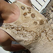 handmade. Livemaster - original item Felted dress Zlato skifov. Handmade.