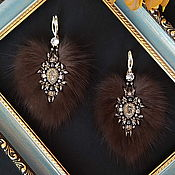 Украшения handmade. Livemaster - original item Earrings made of sable fur, fur earrings, large earrings. Handmade.
