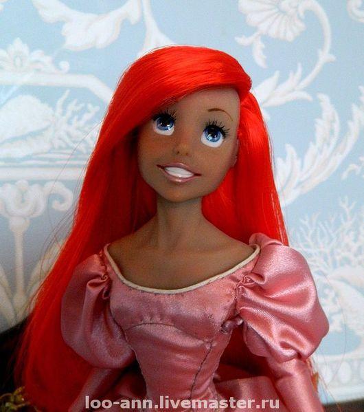 Коллекционные куклы ручной работы. Ярмарка Мастеров - ручная работа. Купить Ариэль. Handmade. Ариэль, волосы фибра аида