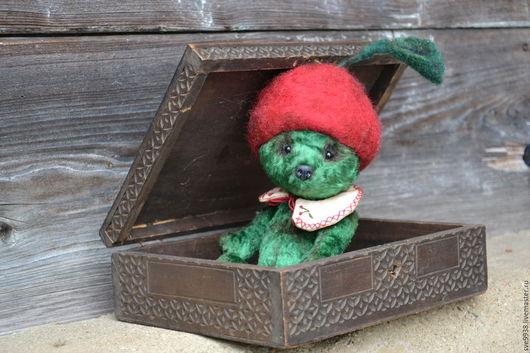 Мишки Тедди ручной работы. Ярмарка Мастеров - ручная работа. Купить Мишка Вишня. Handmade. Зеленый, игрушка, мишка, тедди
