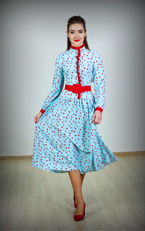 2ecd72f7c18 Платья ручной работы. Ярмарка Мастеров - ручная работа. Купить Нарядное  весенне-летнее платье ...