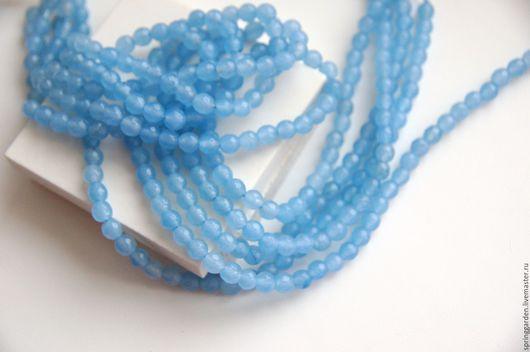 Для украшений ручной работы. Ярмарка Мастеров - ручная работа. Купить Нефрит голубой Рио-Аква,граненная бусина 6мм. Handmade.