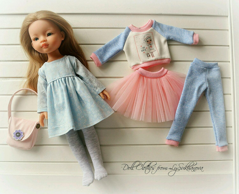 Одежда для кукол ручной работы. Ярмарка Мастеров - ручная работа. Купить Набор одежды для куколки Паола Рейна 39. Handmade.