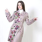 Одежда ручной работы. Ярмарка Мастеров - ручная работа Пальто из шерсти Цветочный вихрь. Handmade.
