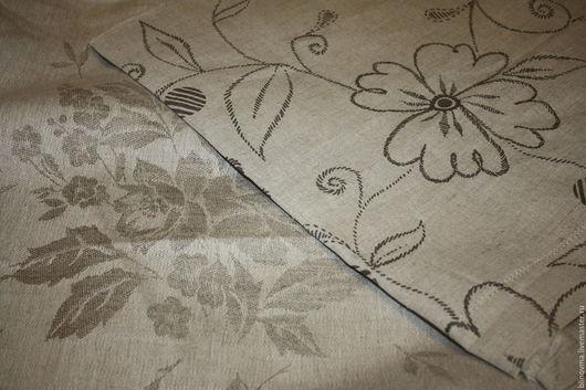 Шитье ручной работы. Ярмарка Мастеров - ручная работа. Купить Набор льняных тканей с рисунком. Handmade. Серый, льняная ткань