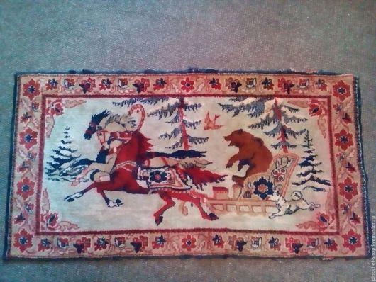 Винтажные предметы интерьера. Ярмарка Мастеров - ручная работа. Купить Детский шерстяной коврик. Handmade. Комбинированный, коврик на пол, ковёр