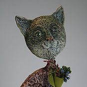 Куклы и игрушки ручной работы. Ярмарка Мастеров - ручная работа Кошечка Мусечка в платье. Handmade.