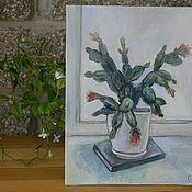 Картины ручной работы. Ярмарка Мастеров - ручная работа Цветы на подоконнике. Рипсалидопсис. Handmade.