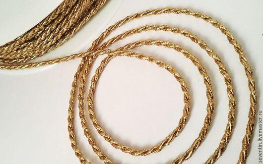 Другие виды рукоделия ручной работы. Ярмарка Мастеров - ручная работа. Купить Витой шнур, золото, серебро. Handmade. Серебряный