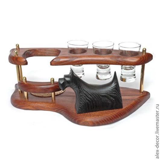 Подарки для мужчин, ручной работы. Ярмарка Мастеров - ручная работа. Купить Мини бар Scotch Terrier. Handmade. Коричневый