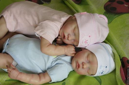 Куклы-младенцы и reborn ручной работы. Ярмарка Мастеров - ручная работа. Купить Twin A&B by Bonnie Brown. Handmade.