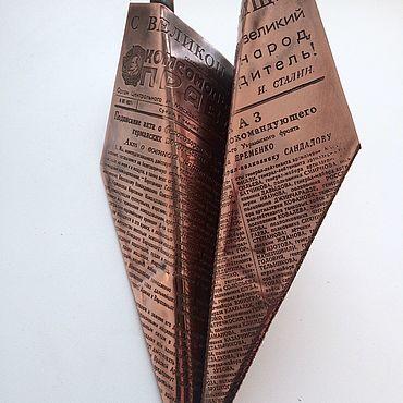 """Сувениры и подарки ручной работы. Ярмарка Мастеров - ручная работа Самолет """"бумажный"""". Handmade."""