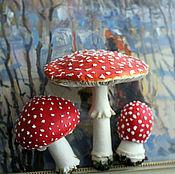 Цветы и флористика handmade. Livemaster - original item Mushrooms, toadstools, muhomorchiki.Botanical sculpture.Polymer clay.. Handmade.