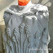 Одежда ручной работы. Ярмарка Мастеров - ручная работа Джемпер с косами и колосками (белый).. Handmade.