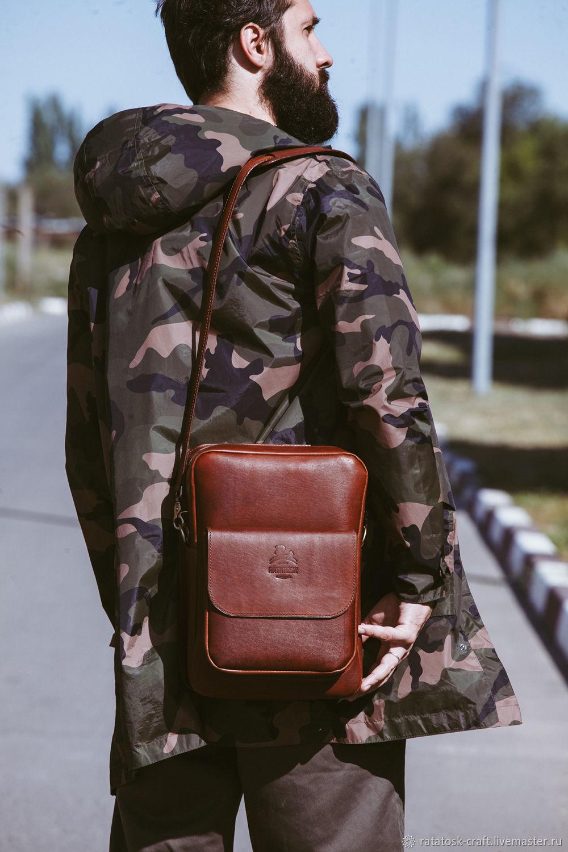 Leather men's tablet bag Johnson, Men\'s bag, Volgograd,  Фото №1
