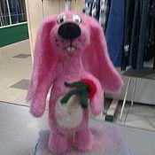 Куклы и игрушки ручной работы. Ярмарка Мастеров - ручная работа зайчишка. Handmade.