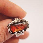 Украшения ручной работы. Ярмарка Мастеров - ручная работа кольцо Аммолит. Handmade.