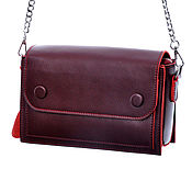Сумка через плечо ручной работы. Ярмарка Мастеров - ручная работа Сумка через плечо: Женская кожаная сумка М949. Handmade.