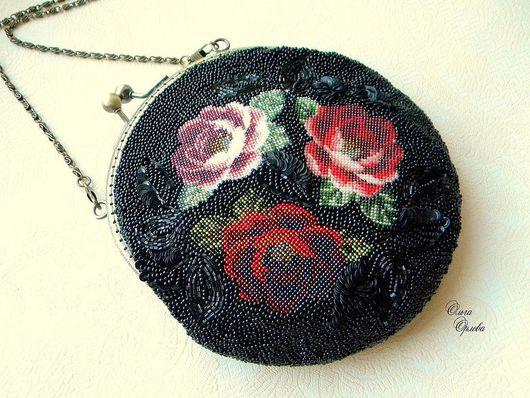 Женские сумки ручной работы. Ярмарка Мастеров - ручная работа. Купить Три розы. Handmade. Вечерняя сумочка