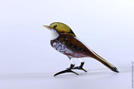 Статуэтки ручной работы. Ярмарка Мастеров - ручная работа. Купить Стеклянная фигурка птицы Воробей. Handmade. Птица, птичка