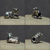 Материалы для творчества handmade. Livemaster - original item Polar bear charm. Handmade.
