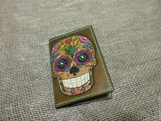 """Обложки ручной работы. Ярмарка Мастеров - ручная работа. Купить Обложка на паспорт """"Dia de Muertos"""". Handmade. Обложка на паспорт"""