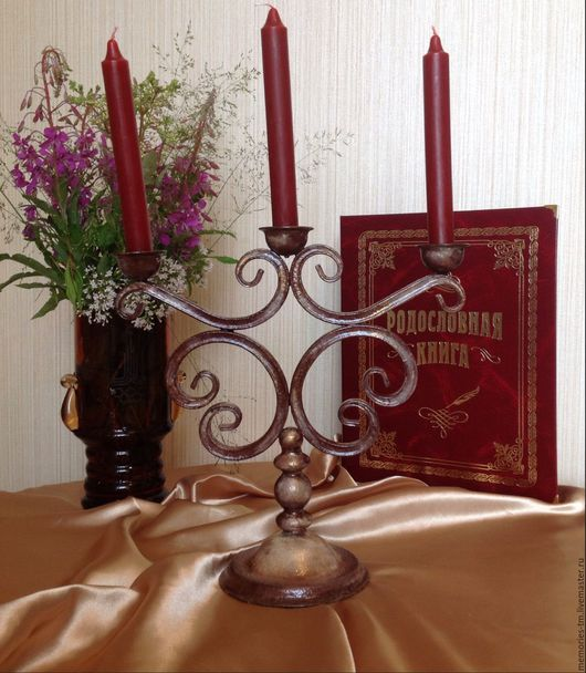 Подсвечники ручной работы. Ярмарка Мастеров - ручная работа. Купить Кованый подсвечник для 3 свечей. Оформление свадебного торжества. Handmade.