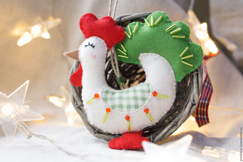 Как сделать новогоднюю игрушку петуха фото 251