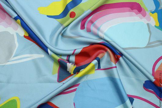 Шитье ручной работы. Ярмарка Мастеров - ручная работа. Купить HV23, Шелковый платок. Handmade. Разноцветный, шелковый палантин