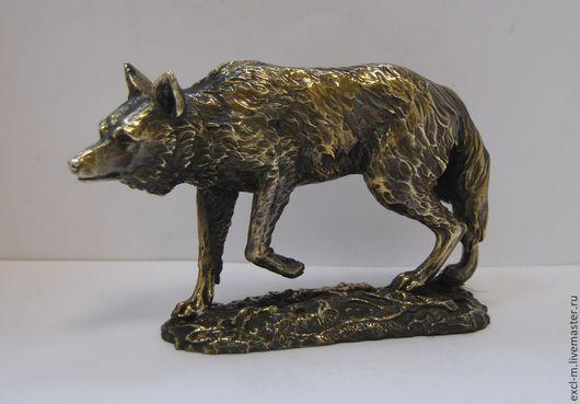 """Миниатюра ручной работы. Ярмарка Мастеров - ручная работа. Купить Статуэтка """"Волк"""". Handmade. Волк, Литье"""