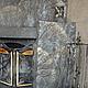 Декор поверхностей ручной работы. Декор камина. Мария. Ярмарка Мастеров. Декоративное панно, шпатлевка террако