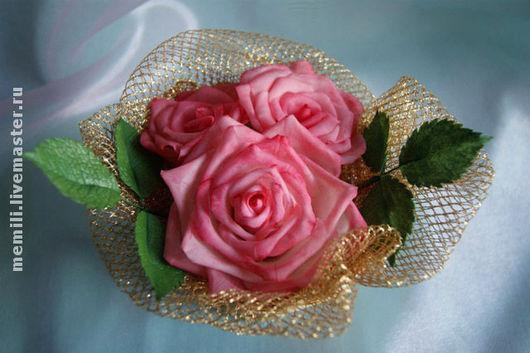 Интерьерные композиции ручной работы. Ярмарка Мастеров - ручная работа. Купить Корзиночка с розами. Handmade. Корзиночка роз, холодный фарфор